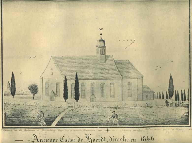 """La """"Feldkirche"""", ancienne église située sur l'actuel cimetière, a été démolie en 1846"""